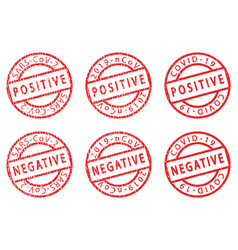 covid-19 grunge stamps vector image
