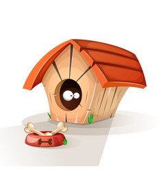 dog house animals eat vector image