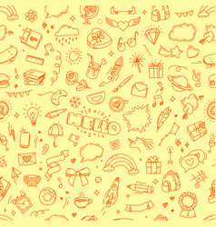 doodling seamless pattern abstract vector image