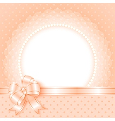 Elegant frame with beads and bow vector image