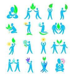 environment design elements and icons vector image