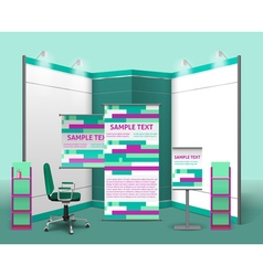 Exhibition Stand Design Template vector
