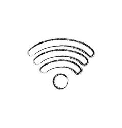figure wifi symbol of digital internet connection vector image