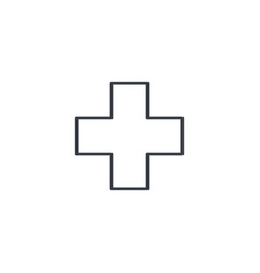 first aid pharmacy medical cross thin line icon vector image