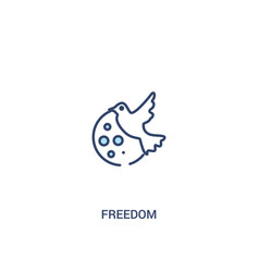 Freedom concept 2 colored icon simple line vector