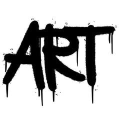 Graffiti art word sprayed isolated on white vector
