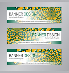 green yellow web header abstract banner vector image