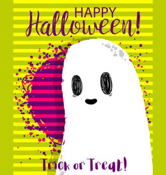 halloween funny cartoon ghost vector image