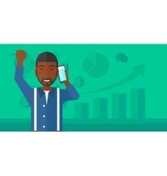 Happy successful businessman vector image