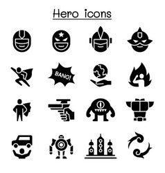 hero icon set vector image
