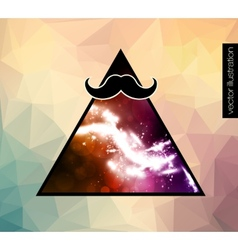 hipster background with a mustache vector image