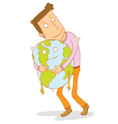 i love my earth vector image
