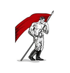 Man Holding Flag vector