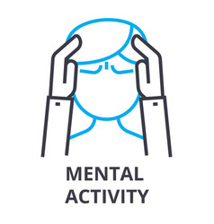 mental activity thin line icon sign symbol vector image