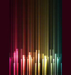 multicolor frequency bar overlap in dark backgroun vector image