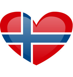 Norway flag official colors and proportion vector