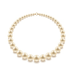 Pearl bead isolated vector