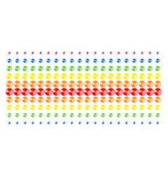 pie chart shape halftone spectrum effect vector image