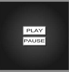 play and pause button icon flat vector image
