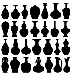 Pot pottery vase flower home interior decoration vector