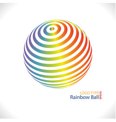 Rainbow ball logo vector