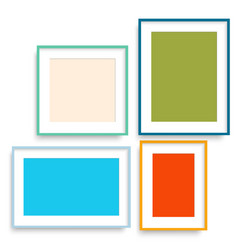 realistic colorful picture frames vector image