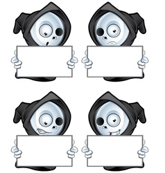 Reaper Holding A Blank Sign vector image vector image