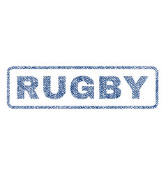 Rugby textile stamp vector