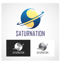 Saturn symbol vector