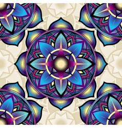 Seamless background pattern of mandala symbols vector image