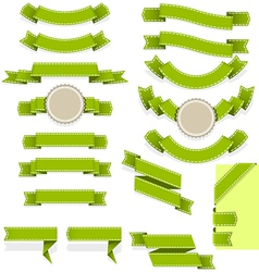 set empty ribbons and banners different vector image