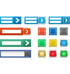 set log in button vector image