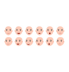Set of male emoji characters emotion icons vector