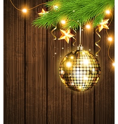 Shining golden decoration vector image