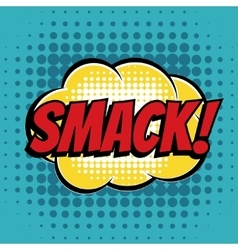Smack comic book bubble text retro style vector