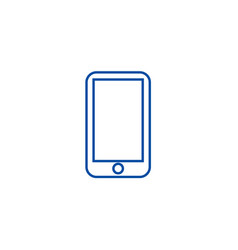 smartphone line icon concept smartphone flat vector image