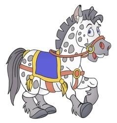Smiling horse cartoon vector image