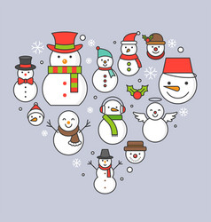 Snowman icon on background for christmas holidays vector