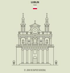 St john the baptist cathedral in lublin vector