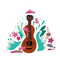 summer holiday music metaphor flat vector image