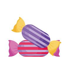 sweet candies icon trick or treat happy halloween vector image
