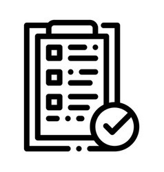 Tablet clip with approved check list icon vector