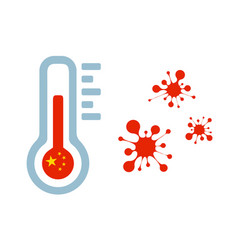 thermometer and coronavirus vector image