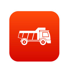 toy truck icon digital red vector image