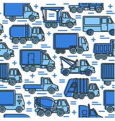 Transportation seamless pattern with different vector