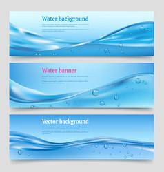 water splashes banners liquid flowing waters vector image