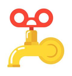 water vintage tap vector image