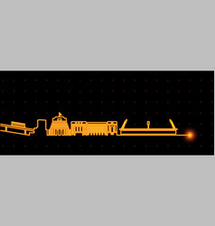 wellington light streak skyline vector image
