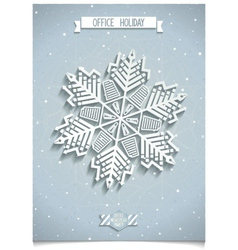 White 3D office snowflake vector