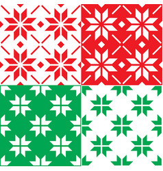 Winter nordic snowflakes pattern christmas vector